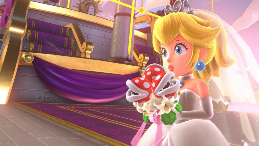 Bride Peach in Mario