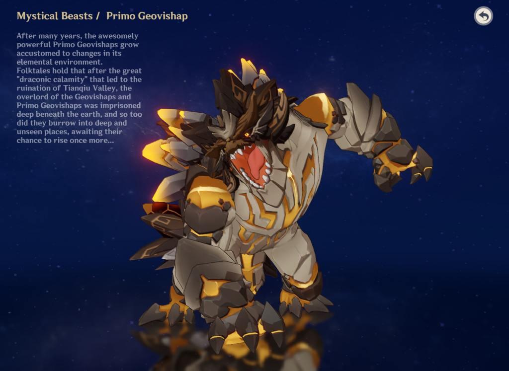 primo geovishap  mystical beast