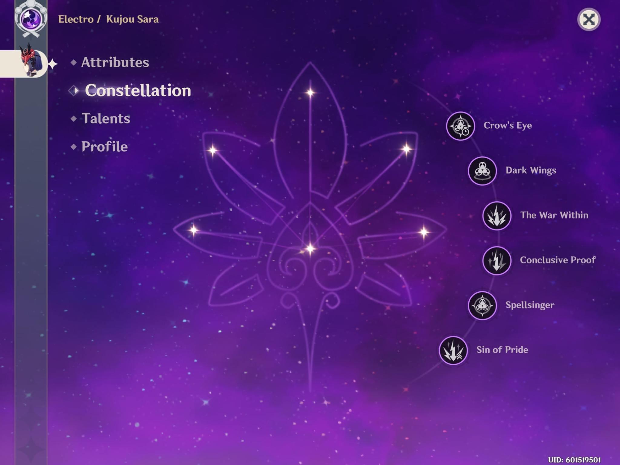 sara constellations