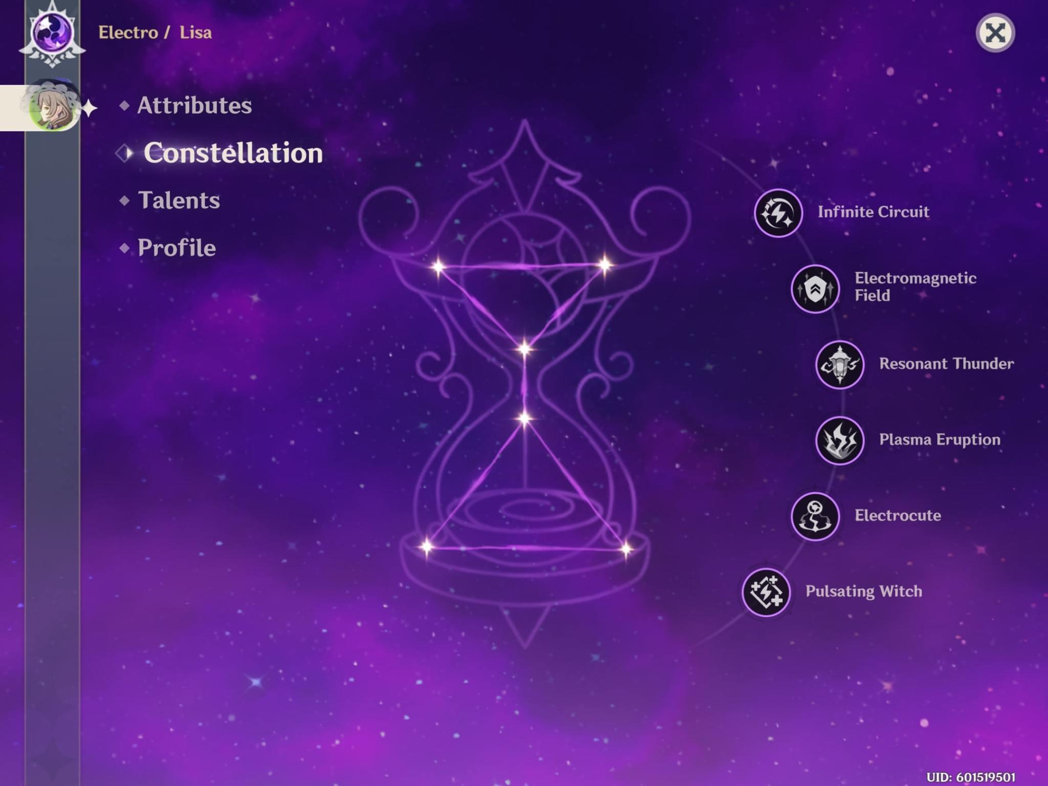 lisa constellation genshin impact